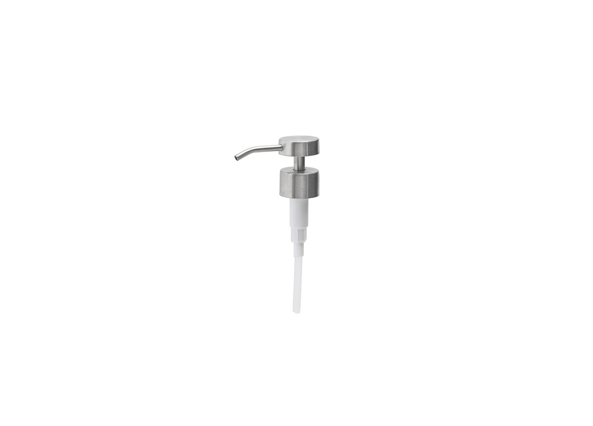 Low Profile Brushed Stainless Pump Top - Silver
