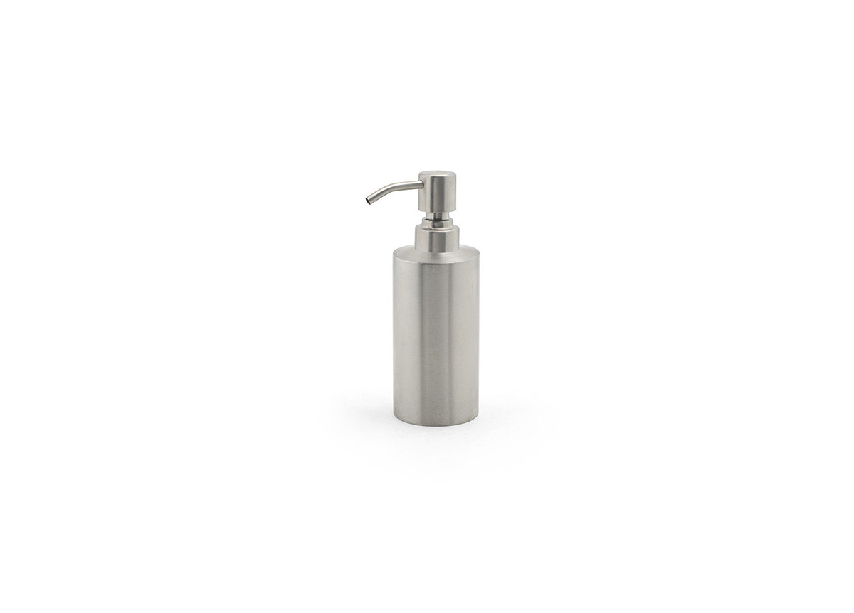 12oz Brushed Stainless Pump - Silver with Brushed Top