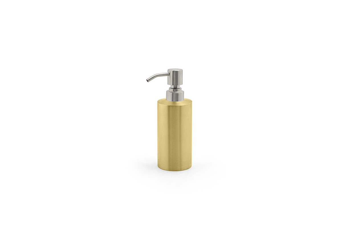 12oz Brushed Stainless Pump - Matte Brass with Brushed Top