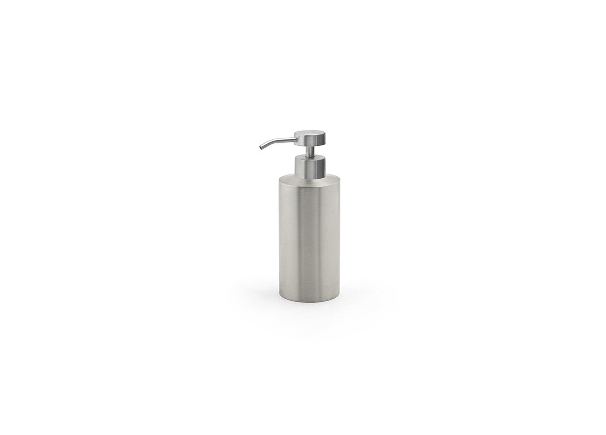 12oz Brushed Stainless Pump - Silver with Low Profile Brushed Top