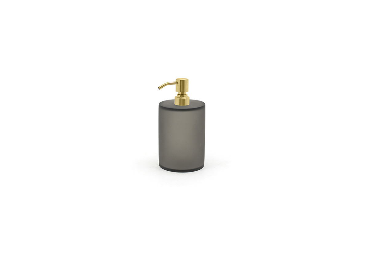 28oz Nassau Pump - Smoke with Matte Brass Top