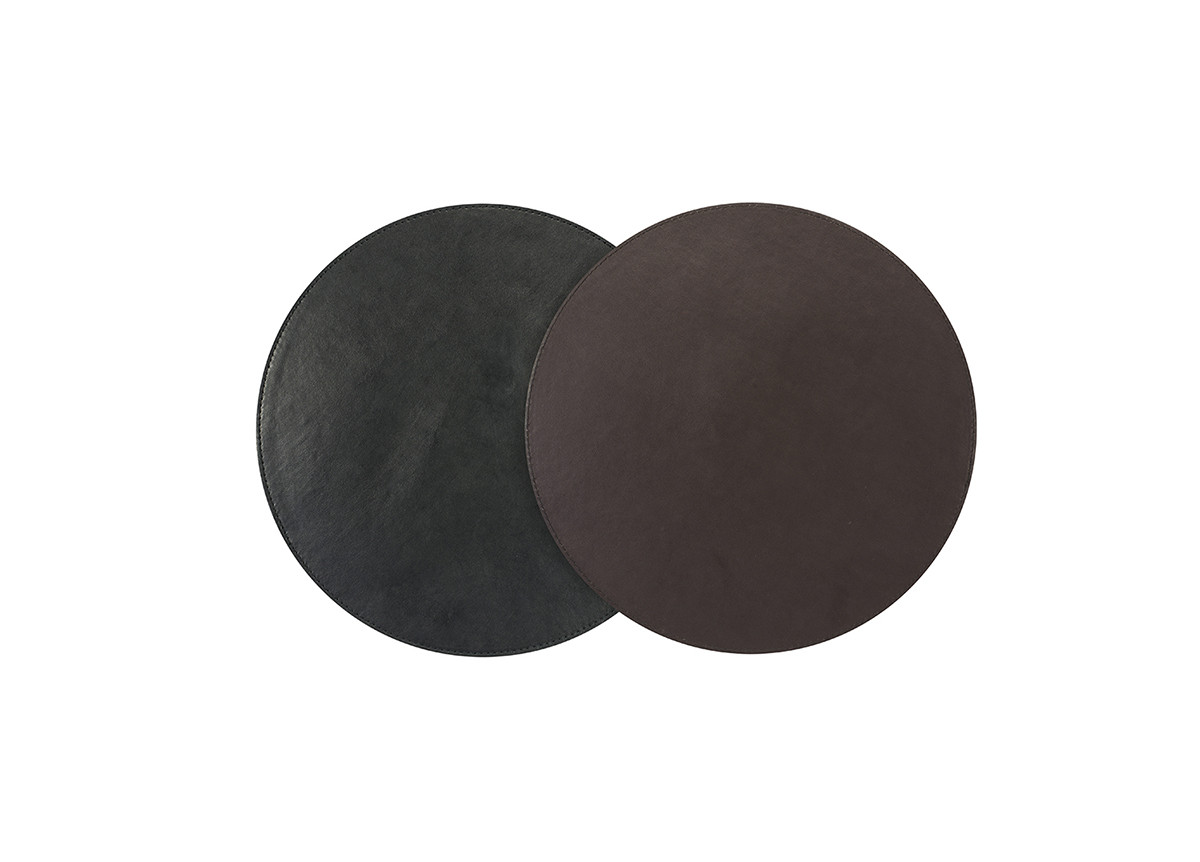 "12"" Round London Reversible  Mat/Liner - Black/Brown"