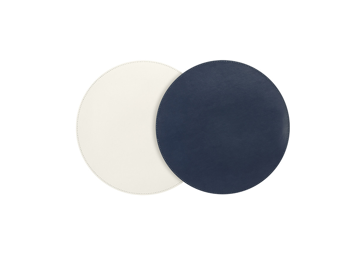 "12"" Round London Reversible  Mat/Liner - Navy/White"