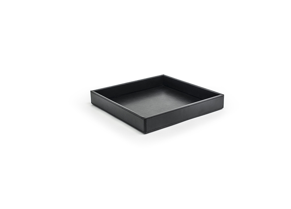 "12"" Square London Tray - Black"