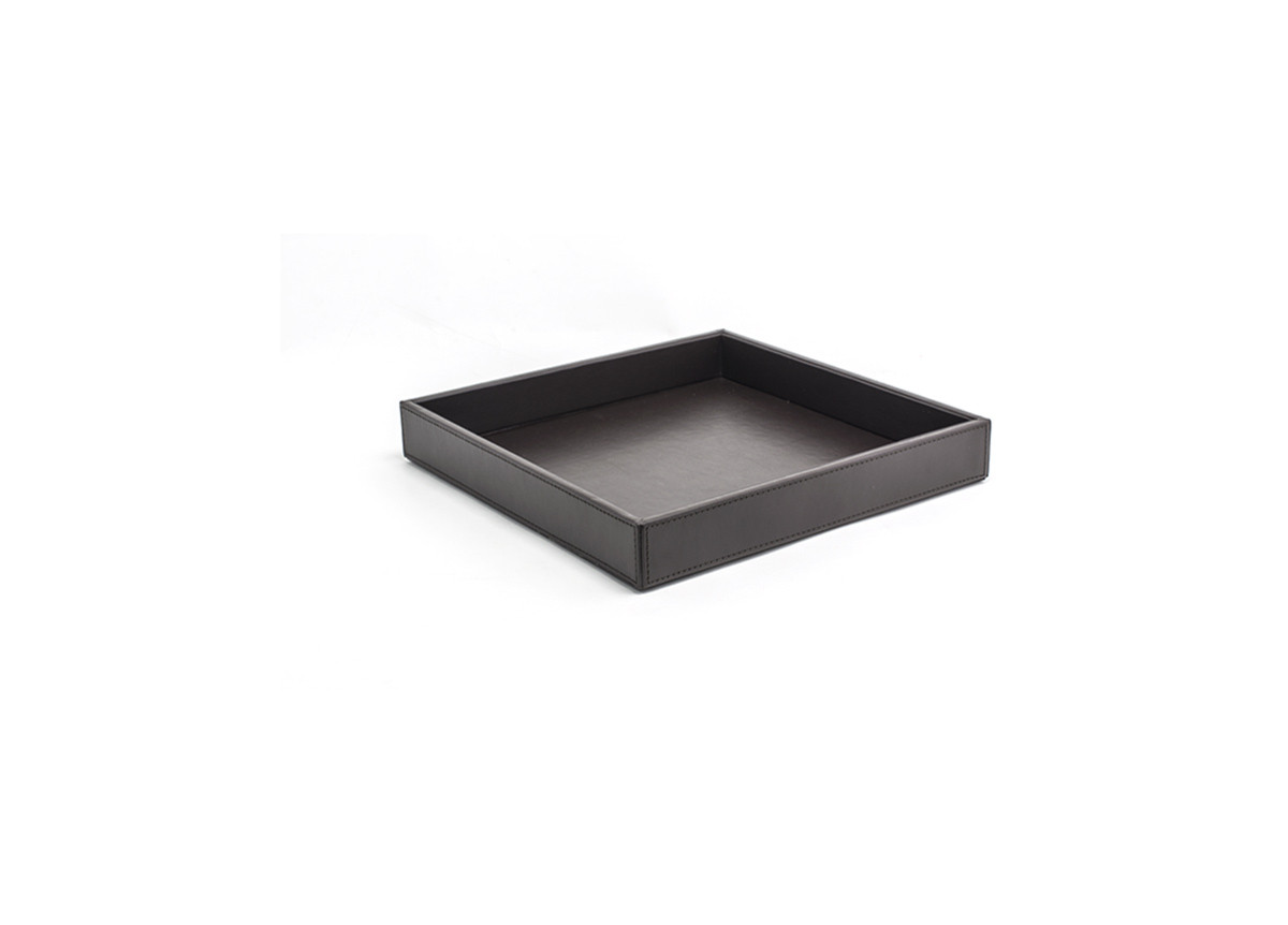 "12"" Square London Tray - Brown"