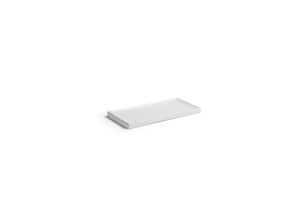 "8.5"" x 4"" Stoneware Amenity Tray - White"