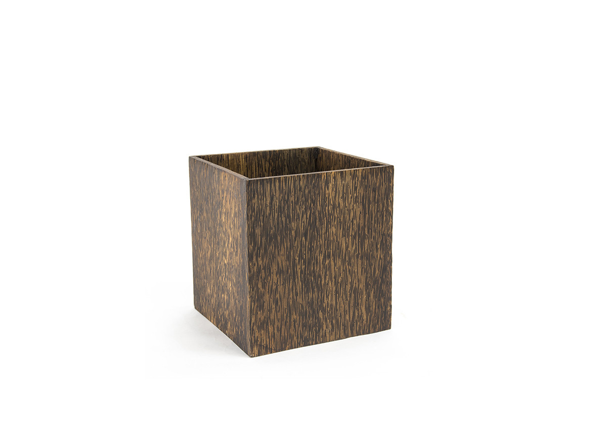 10.75qt Palm Wood Cube