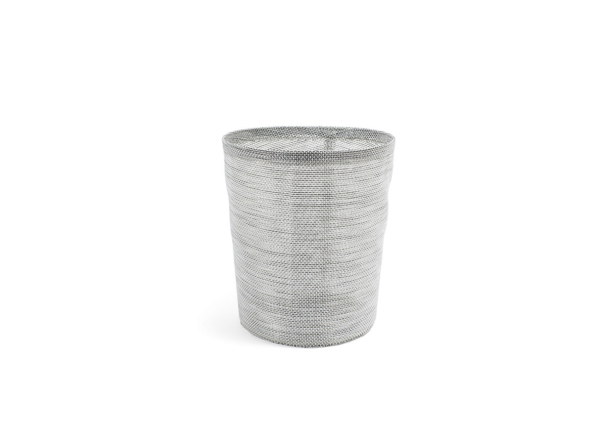 6.75qt Metroweave Tapered Cylinder - Mesh Grey