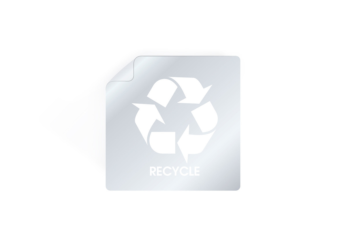 "1.5"" Recycle Label - White"
