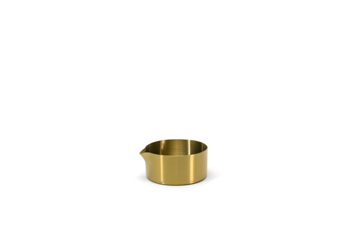 5oz Brushed Stainless Soho Pourer - Matte Brass