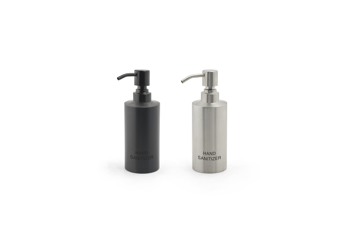 12oz Brushed Stainless Hand Sanitizer Pump