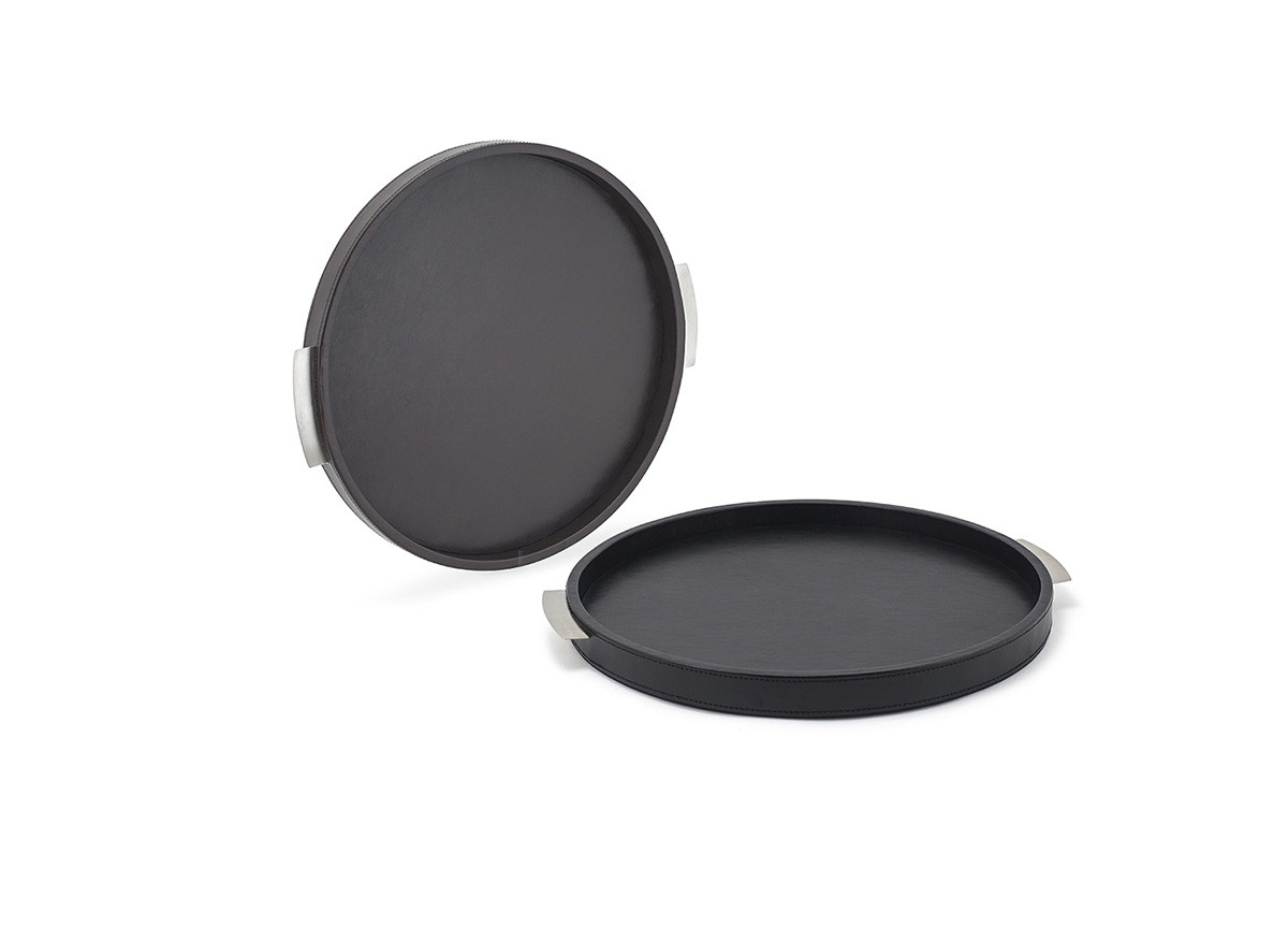 London 15 Round Tray - Black