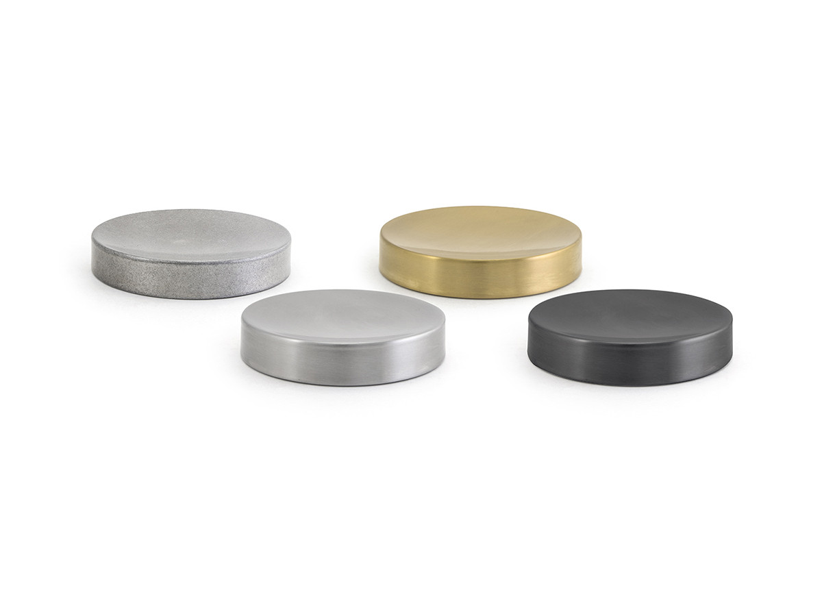 "4.25"" Round Stainless Steel Soap Dish"