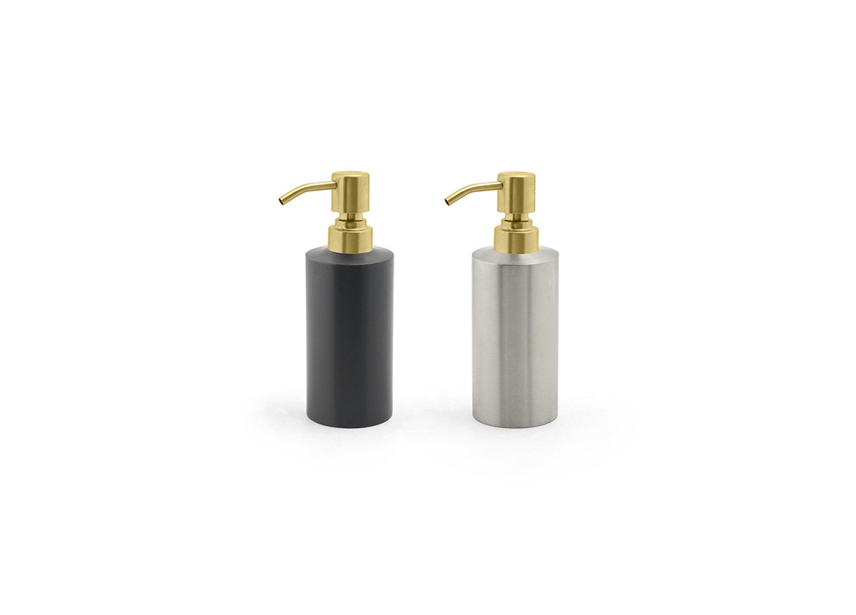 12oz Stainless Steel Soap Pump - with Matte Brass Pump