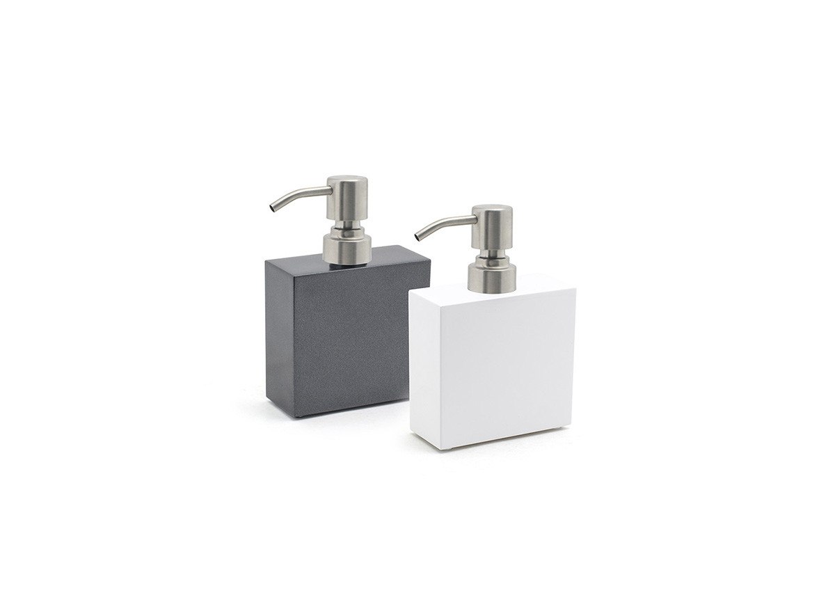 11oz New York Soap Pump - with Brushed Stainless Steel Pump