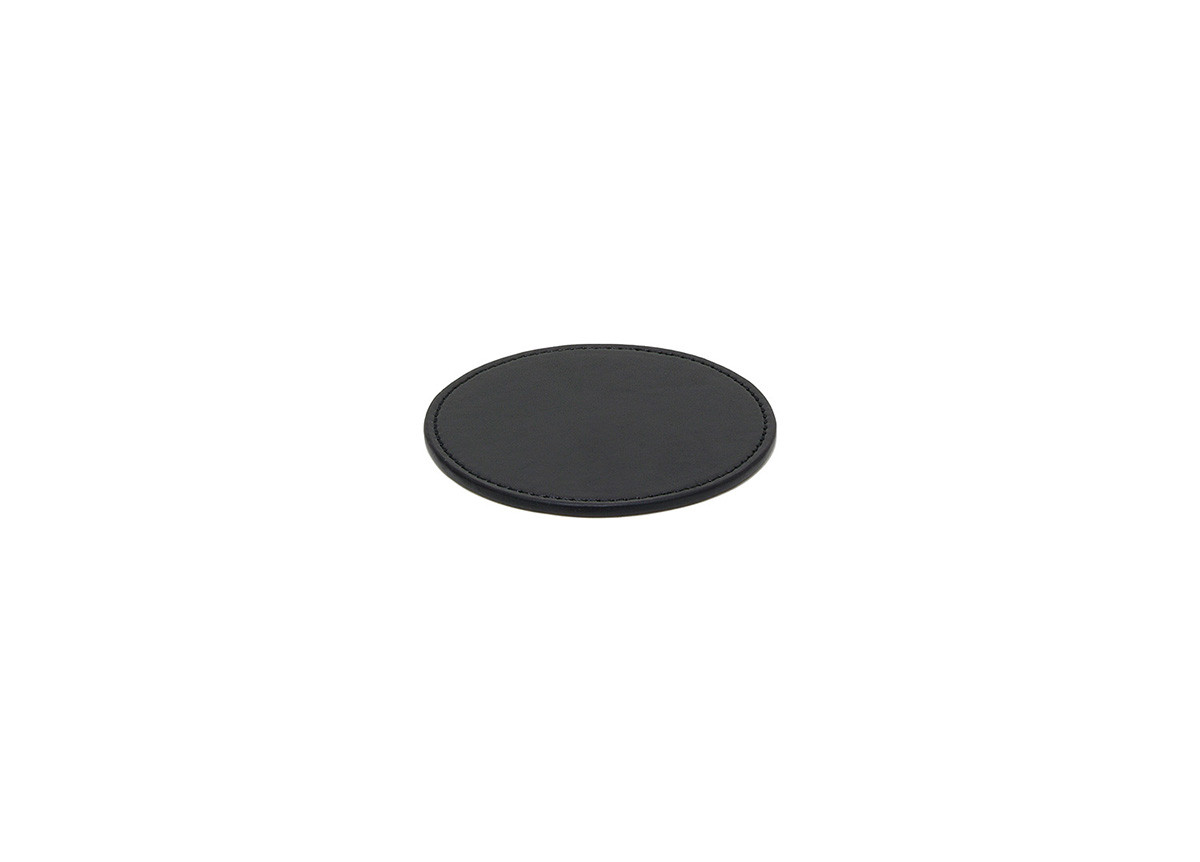 Faux Leather Coaster - Black