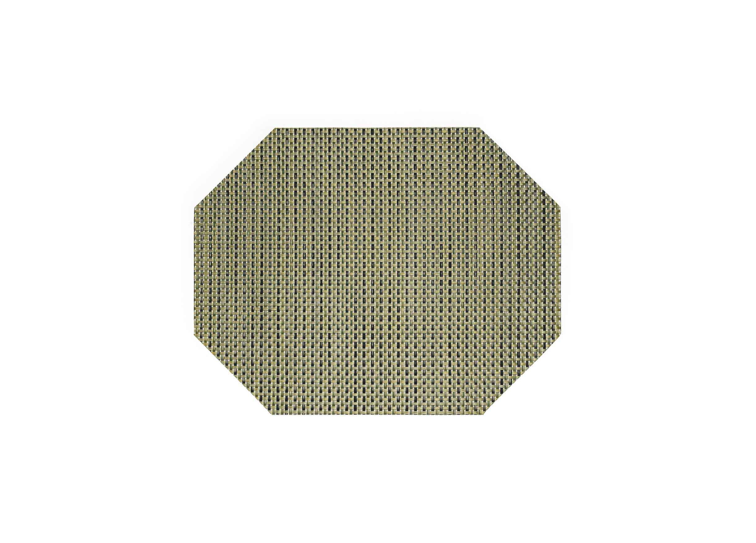 "14"" x 11"" Basketweave Mat - Gold"