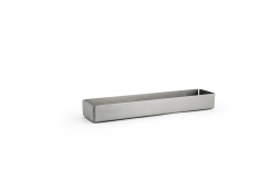 "8.5"" x 2"" Brushed Stainless Rectangle Holder - Silver"