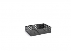 "9"" x 6"" Brushed Stainless Dots Holder - Matte Black"