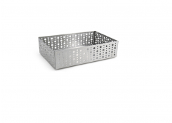 "9"" x 6"" Brushed Stainless Dots Holder - Silver"