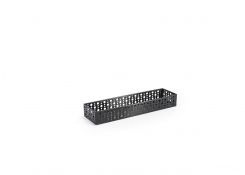 "11.75"" x 2.75"" Brushed Stainless Dots Holder - Matte Black"