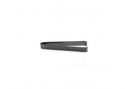 "7"" Brushed Stainless Tongs - Matte Black"