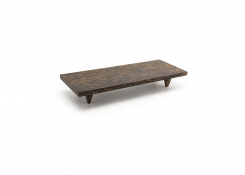"10"" x 4.25"" Palm Wood Footed Tray"