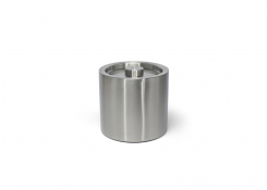 3qt Round Brushed Stainless Ice Bucket - Silver