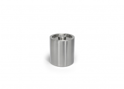 2qt Round Brushed Stainless Ice Bucket - Silver with Brushed Stainless Lid