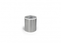 2qt Brushed Stainless Ice Bucket - Silver with Acrylic Lid