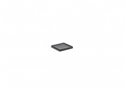 "4"" Square Stoneware Soap Dish - Black"