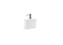 28oz New York Pump - Snow with Mirrored Stainless Top
