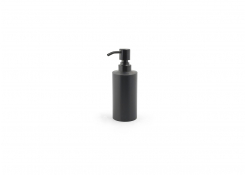 12oz Brushed Stainless Pump - Matte Black with Matte Black Top