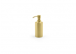 12oz Brushed Stainless Pump - Matte Brass with Matte Brass Top