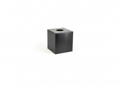 Brushed Stainless Tissue Cover - Matte Black