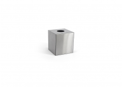 Brushed Stainless Tissue Cover - Silver