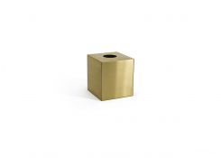 Brushed Stainless Tissue Cover - Matte Brass