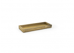 "11.75"" x 4.25"" Rustic Amenity Tray - Natural"