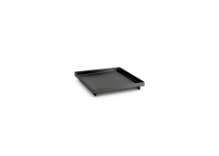 "6"" Square Brushed Stainless Tray - Matte Black"