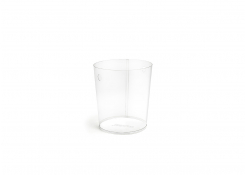 """9"""" PVC Tapered Cylinder Liner - Clear"""