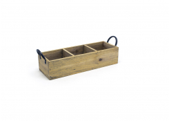 "13.75"" x 4.75"" Asheville Wood Holder - Natural"