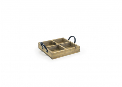 "6.75"" Square Asheville Wood Holder - Natural"