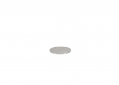 Round Brushed Soho Stainless Lid - Silver