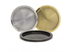 "14"" Round Stainless Steel Tray"