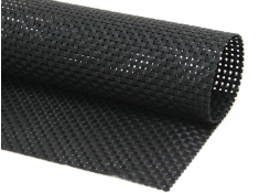 "16"" x 12"" Basketweave Mat - Black"