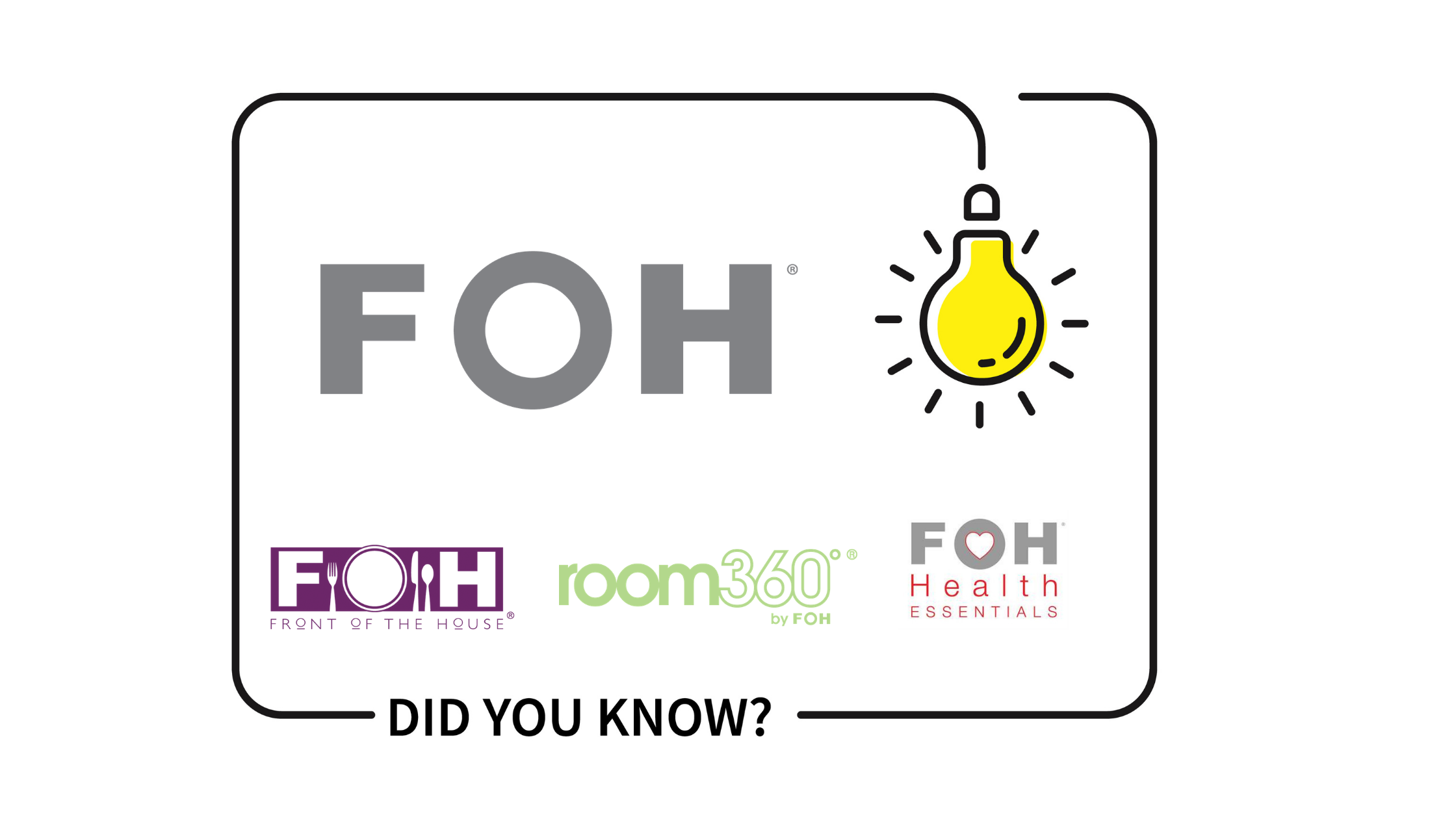 10 Things You May Not Know About FOH